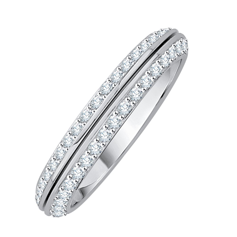 Diamond Anniversary Ring in Sterling Silver (1/4 cttw) (GH Color, I2-I3 Clarity) (Size-7.25)