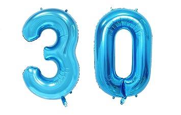 HS Uni azul globo hoja gigante Número 10 - 100, balón hinchable a ...
