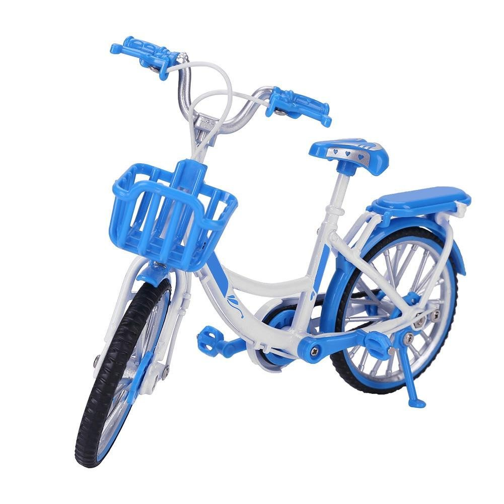 Chinatera Kids Toys Racing Bike Model 1:10 Alloy Replica Bicycle Collections Children Gifts (Blue)