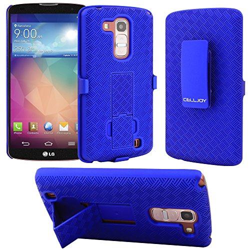 G Pro 2 Case CellJoy® [X-Hatch Armor] LG Optimus G Pro 2 Ultra Fit (PC) Hard Case Cover with ***Belt Clip Holster*** Slim Case Combo For LG G Pro 2 (Blue)