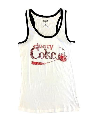 216c70a66f022 Cherry Coke Tank Top - White -  Amazon.co.uk  Clothing