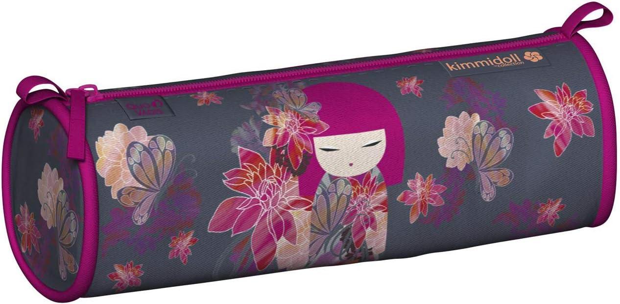Quo Vadis Kimmidoll Classic - Estuche redondo (8 x 23 x 8 cm), diseño de mariposa: Amazon.es: Oficina y papelería
