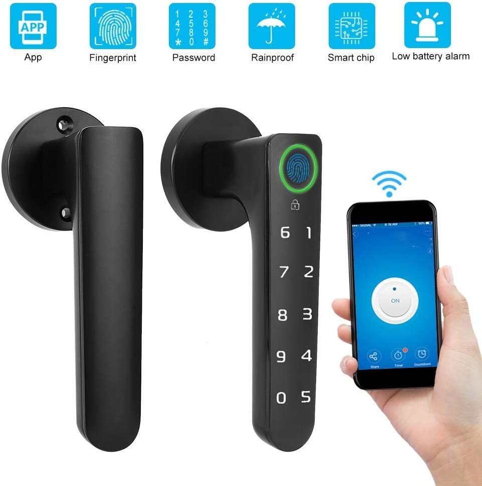 Nitrip Electronic Door Lock Fingerprint Lock Keypad Lock Lock Security Fingerprint authentication Fingerprint authentication Maximum 150 People PIN Code 150 Multiple Fingerprint