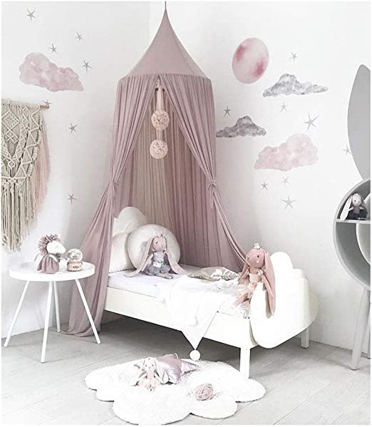 Baby Bed Mosquito Net Mesh Dome Curtain Net for Toddler Crib Cot Canopy White LT