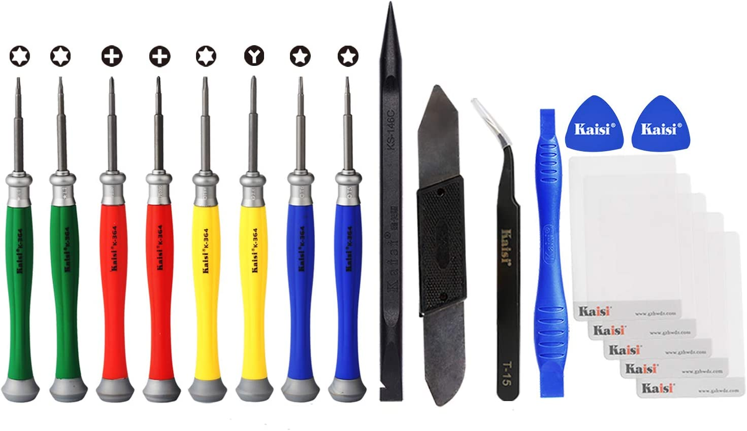 Kaisi 18 in 1 Professional MacBook Repair Tool Kit Precision MacBook Screwdriver Set, Pentalobe Screwdriver, Tri Wing, Torx and Phillips Screwdriver for MacBook Pro & MacBook Air with Retina Display