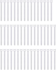 Pasow 50pcs Reusable Fastening Adjustable Cable Ties Wire Management (8 Inch, White)