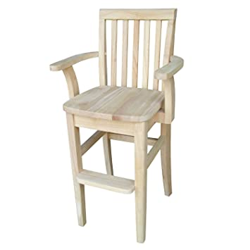 Merveilleux Amazon.com: International Concepts Unfinished Mission Youth Chair: Kitchen  U0026 Dining