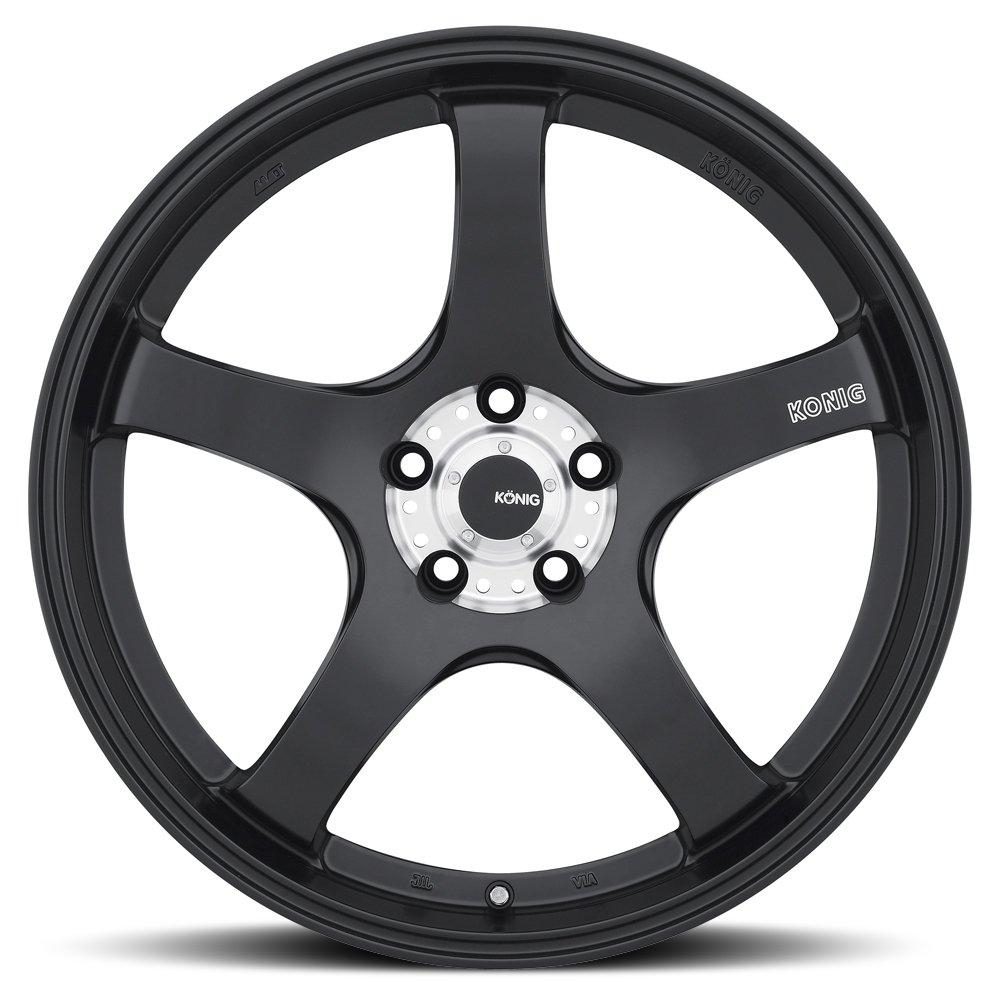 Konig CENTIGRAM Matte Black Wheel with Machined PCD (19x8.5''/5x114.3mm, +33mm offset) by Konig (Image #2)