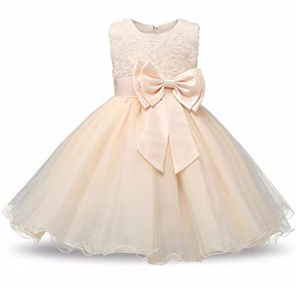 Vestido de niña de las flores de la princesa Vestidos de fiesta de cumpleaños de la