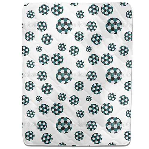 Soccer Fitted Sheet: King Luxury Microfiber, Soft, Breathable by uneekee