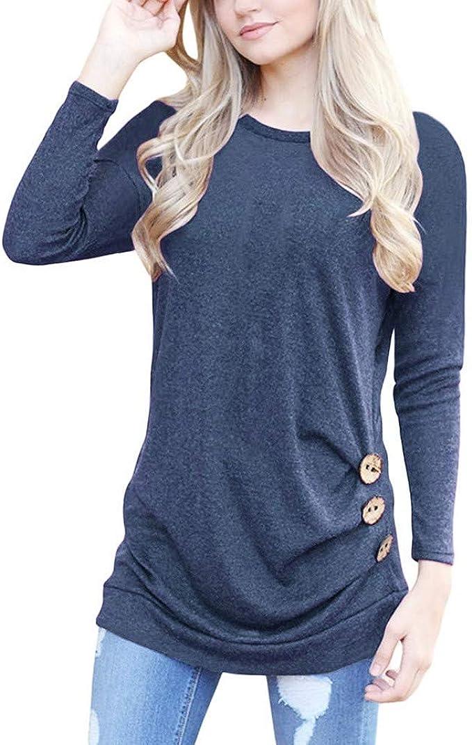 Camicie da Donna,Elegante Bluse e Camicie da Donna,YanHoo Camicia a Maniche Lunghe con Scollo a V con Stampa a Maniche Lunghe