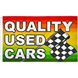 QUALITY USED CARS Flag 3x5' Auto Dealer Banner Advertising Pennant Business Sign