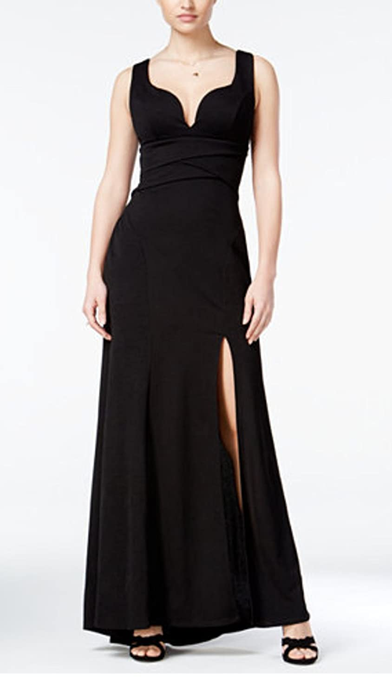 70208cda0f0c LiveLaughLove Shop Emerald Sundae Juniors' Sweetheart Cut Side-Slit Gown at  Amazon Women's Clothing store: