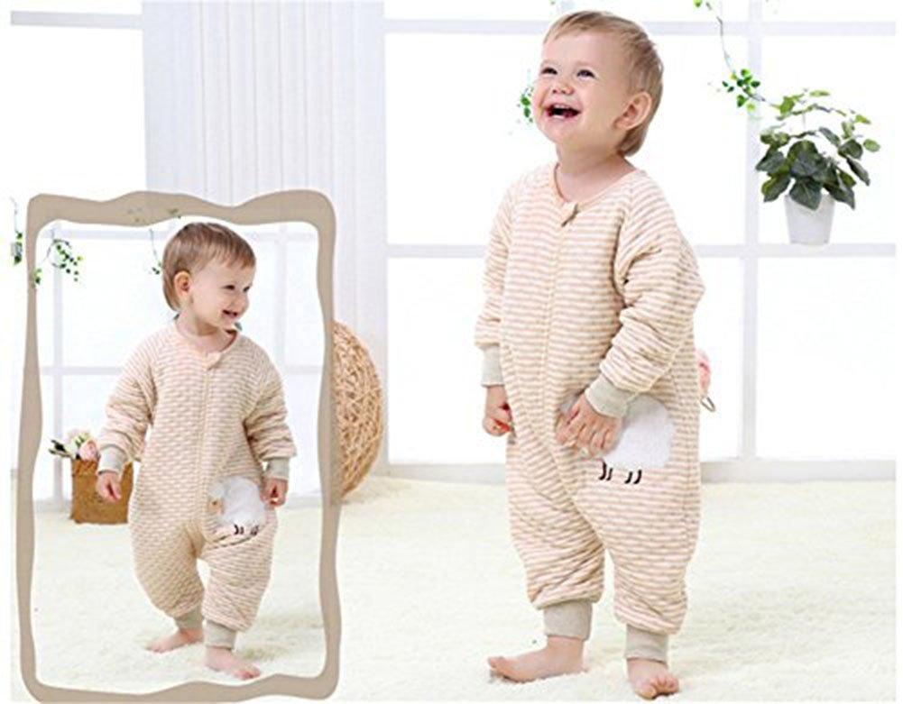 5392c8b313aca LifeWheel Surpyjama en coton bio coloré avec manches et ouvertures aux pieds  pour enfant de 6 à 60 mois marron Brown(Monkey) M  Amazon.fr  Bébés   ...