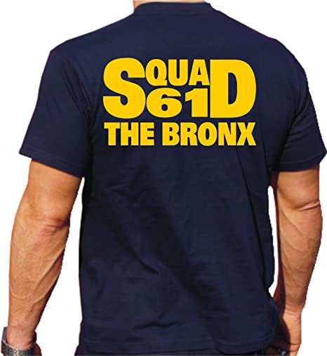 feuer1 'T-Shirt Squad 61 – The Bronx – Navy York Fire Brigade