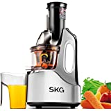 "SKG Wide Chute Anti-Oxidation Slow Masticating Juicer (240W AC Motor, 60 RPMs, 3"" Big Mouth) - Vertical Masticating Cold Press Juicer"