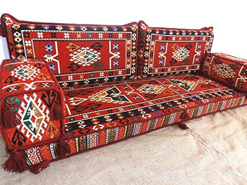 Arabic jalsa arabic majlis hookah bar furniture oriental for Floor couch amazon