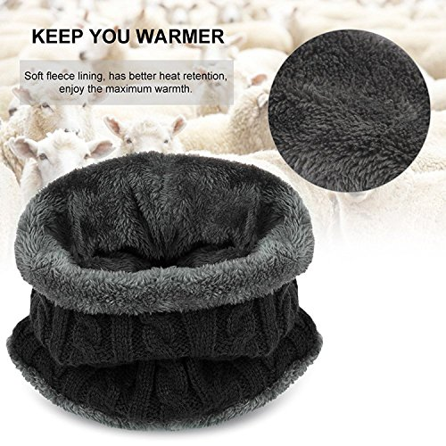 muco Kids Winter Hat Warm Thick Beanie Cap Scarf For Boys Girls Knit Outdoors Ski Beanies by muco (Image #4)