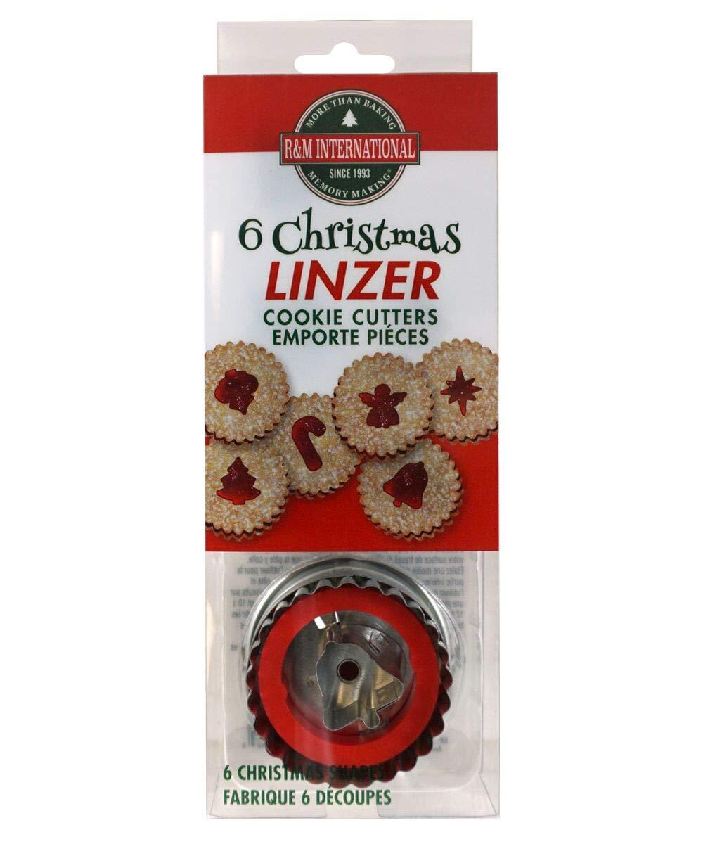 Angel R/&M International 1848 Christmas Linzer Cookie Cutters Ornament Bethlehem Star Christmas Tree Bell 6-Piece Set R /& M International Group Candy Cane