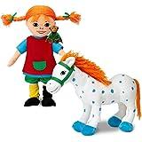 Pippi Calzelunghe 44.3777.00-Peluche Set di bambole langst, 3pezzi