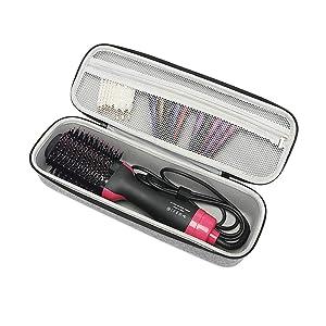Hard Travel Case for Revlon One-Step Hair Dryer & Volumizer& Styler Carrying Case Gray