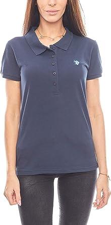 U.S. POLO ASSN. Polo clásico para Mujer, Color Azul Marino Azul S ...