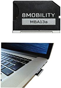 "8MOBILITY iSlice Micro SD Card Adapter Compatibe with MacBook Air 13"" A1466 (Early 2015-2017) and MacBook Pro 13"" A1278 Unibody"