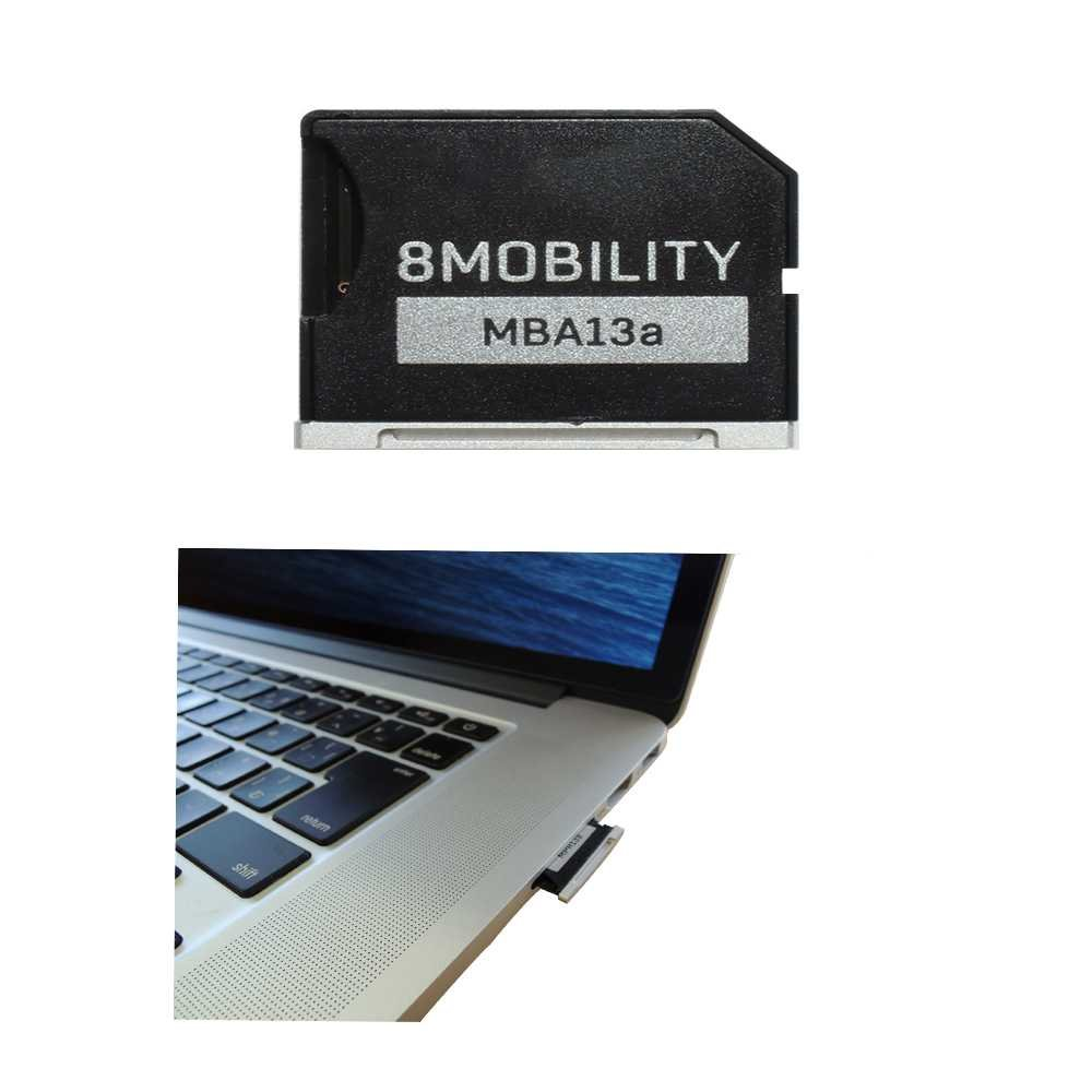 "8MOBILITY iSlice Micro SD Card Adapter for MacBook Air 13"" A1466 (Early 2015-2017) and MacBook Pro 13'' A1278 Unibody"