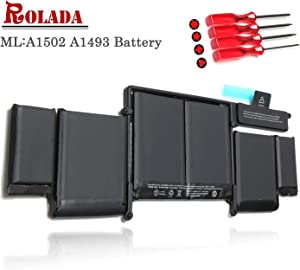 "A1493 New Laptop Battery for Apple A1502 ME864LL/A ME866LL/A; MacBook Pro 13"" Retina Battery-Only for Late 2013, Mid 2014 Version [Li-Polymer 11.34V 71.8Wh]"