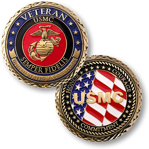 US-Marines-Veteran-Challenge-Coin