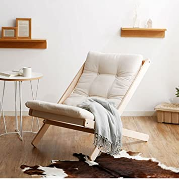 recliners solid wood folding sofa chair nordic style folding chair beech chair color white - Nordic Design Chaise