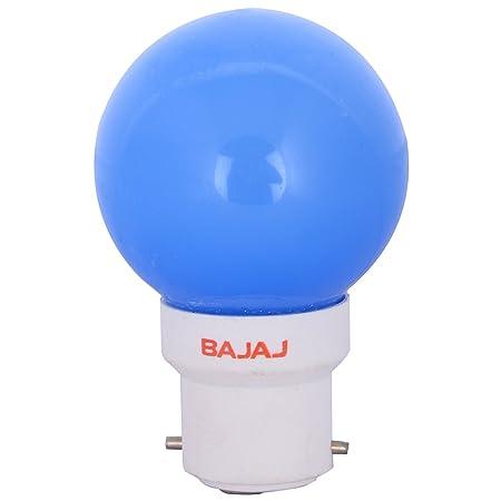 Bajaj Glass LED Bulb (0.5 Watt,Blue) LED Bulbs at amazon