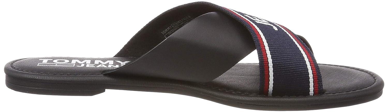 Tongs Femme Tommy Jeans Pop Webbing Flat Mule Sandal