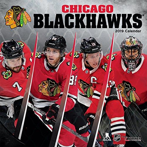 Turner 19998011936 Sport Chicago Blackhawks 2019 12X12 Team Wall Calendar Office Wall Calendar, 12