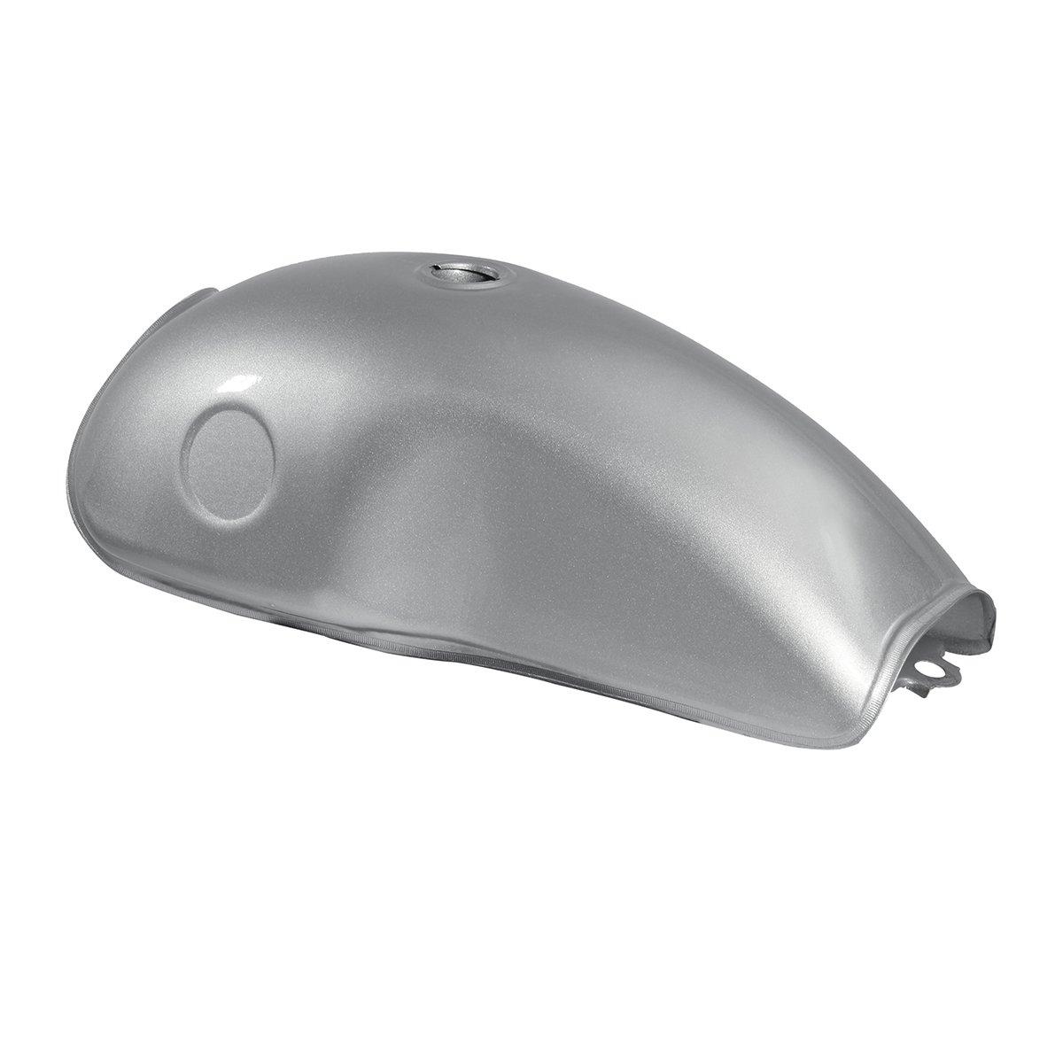 Silver Grey Pigloo Moto 10l 2.6 Gallone Cafe Racer Carburante Gas Serbatoio