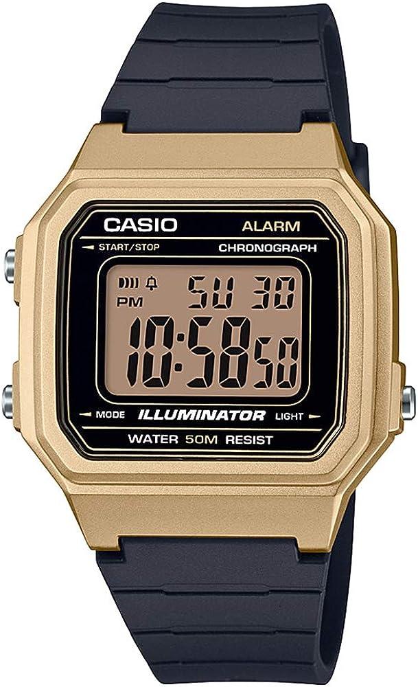 Casio W-217hm-9a Reloj Digital para Hombre Caja De Resina Esfera Color Negro: Amazon.es: Relojes