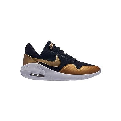 7c57a26596c78 Amazon.com | Nike Women Air Max Sasha Shoe, Black/Metallic Gold ...