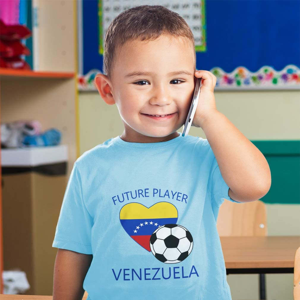 Custom Baby /& Toddler T-Shirt Future Soccer Player Venezuela Boy Girl Clothes
