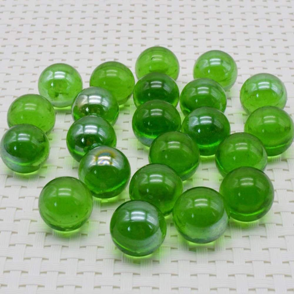 Tcplyn Premium Quality Glass Marbles - 10 Pcs Marbles 16mm Glass Marbles Knicker Glass Balls Decoration Color Nuggets Toy Green by Tcplyn (Image #5)