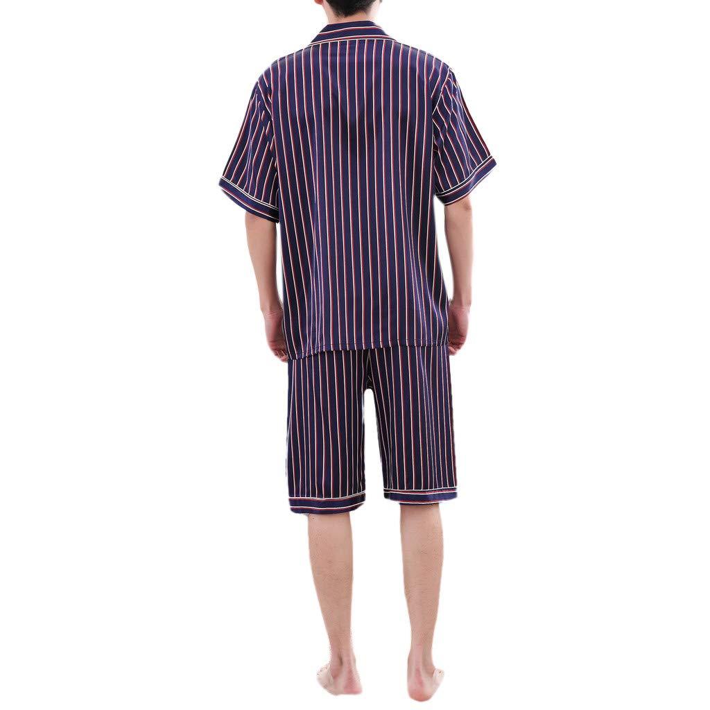 Bafaretk Couple Women Men Classic Stripe Pajama Set Sleepwear Nightclothes Casual Loungewear PJ Set