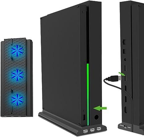 Whiteoak - Soporte vertical para Xbox One X con ventiladores de ...