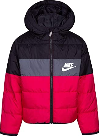 Advertencia Continental Pino  Amazon.com: Nike Polyfill Blocked - Chaqueta aislante para niña, 6x, Rosa y  negro.: Clothing