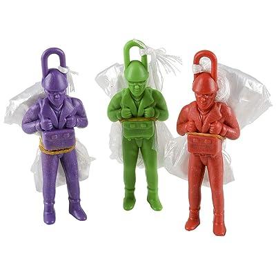 Rhode Island Novelty 4 Inch Plastic Paratrooper (1 Dozen): Toys & Games
