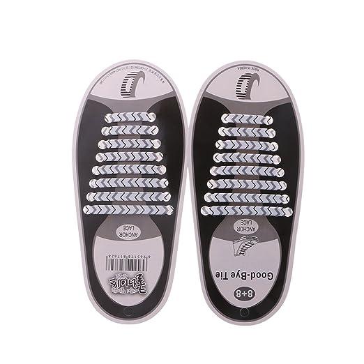 Lamdoo - Cordón Elástico para Zapatos de Silicona, sin Corbata ...