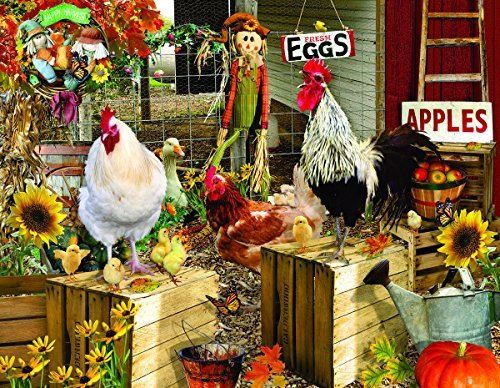 Chickens on The Farm 1000+ Piece Jigsaw