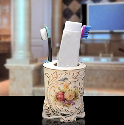 Daeou Creative porta cepillo de dientes de baño de cerámica