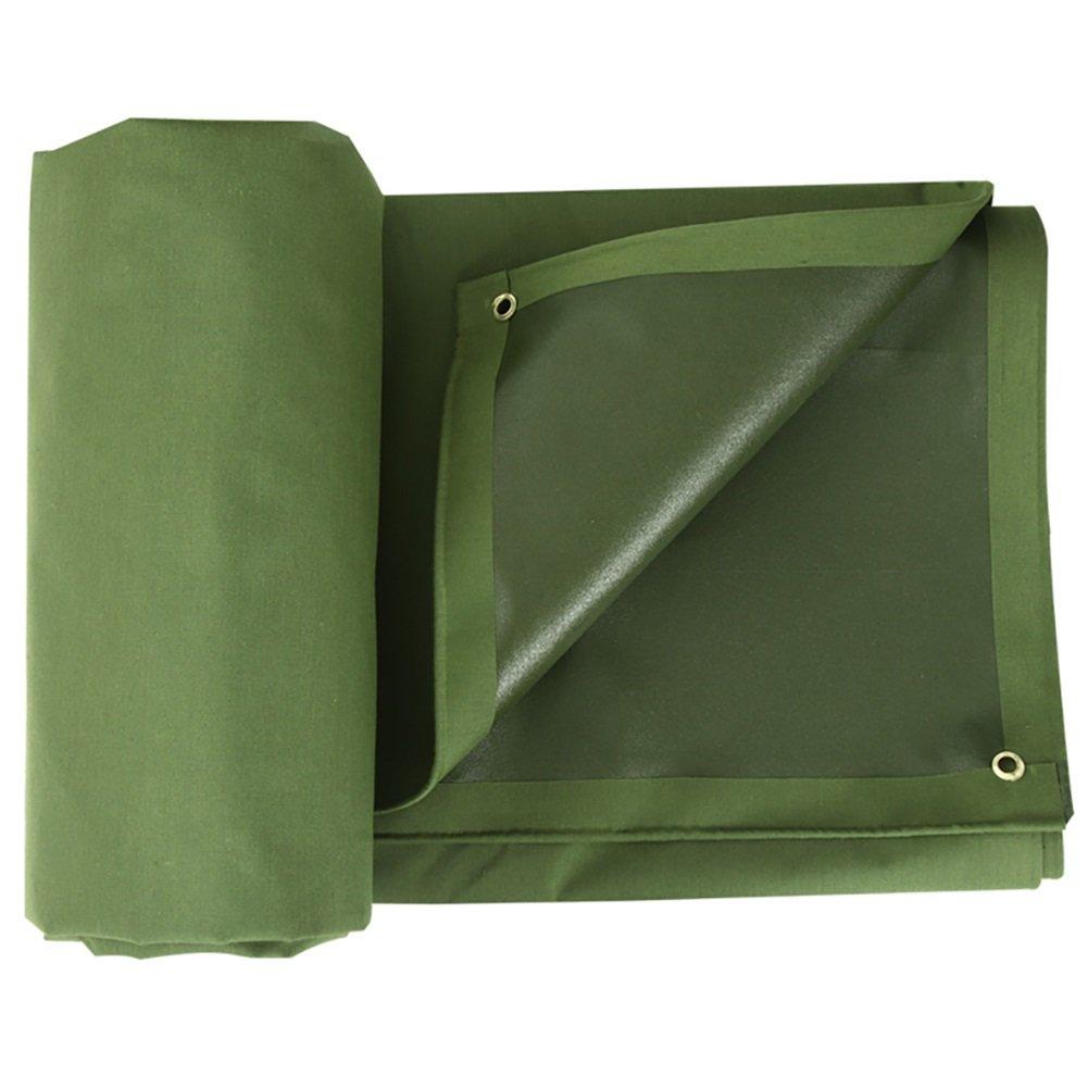 GUOWEI-pengbu ターポリン キャンバス リノリウム カバー シェード 日焼け止め 防水 耐摩耗性 老化防止 防腐剤 ポリエステル糸 屋外 (色 : Green, サイズ さいず : 2.85x1.9m) B07FYJX5QF 2.85x1.9m|Green Green 2.85x1.9m