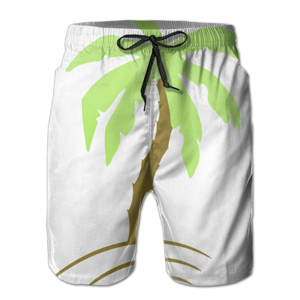 LucyEve Palm Tree Beach Holiday Sun 2c Beach Shorts For Gentleman