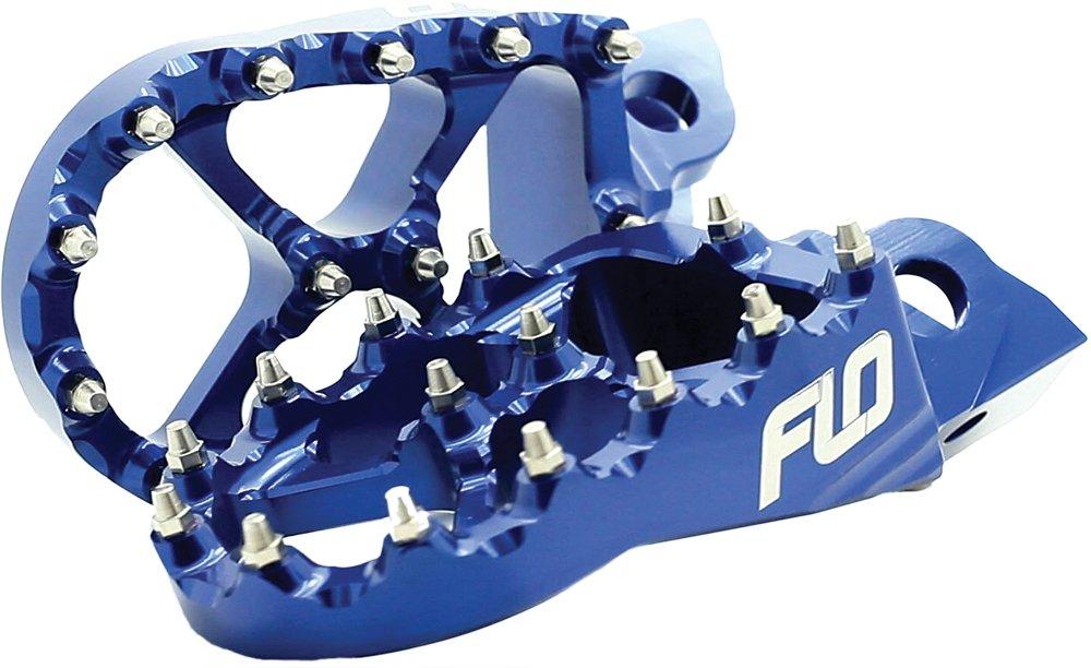 Flo Motorsports FPEG-795-2 BLU Pro Series Foot Pegs - Blue
