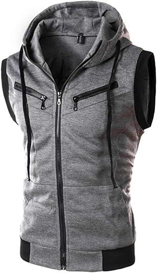 UUYUK Men Casual Long Sleeve Lightweight Zip up Hoodie Sweatshirts Jacket
